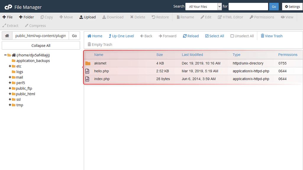 Plugins already installed in WordPress