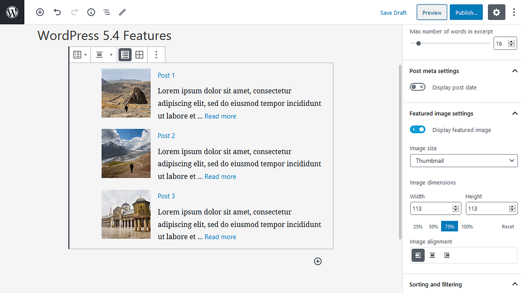 Add Featured Images in Latest Posts Block in WordPress 5.4