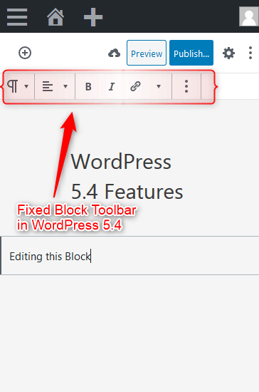 Fixed Block Toolbar on Mobile Devices in WordPress 5.4